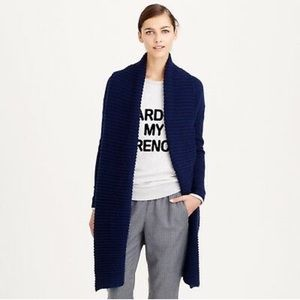J.CREW | Oversized cable knit wool open cardigan
